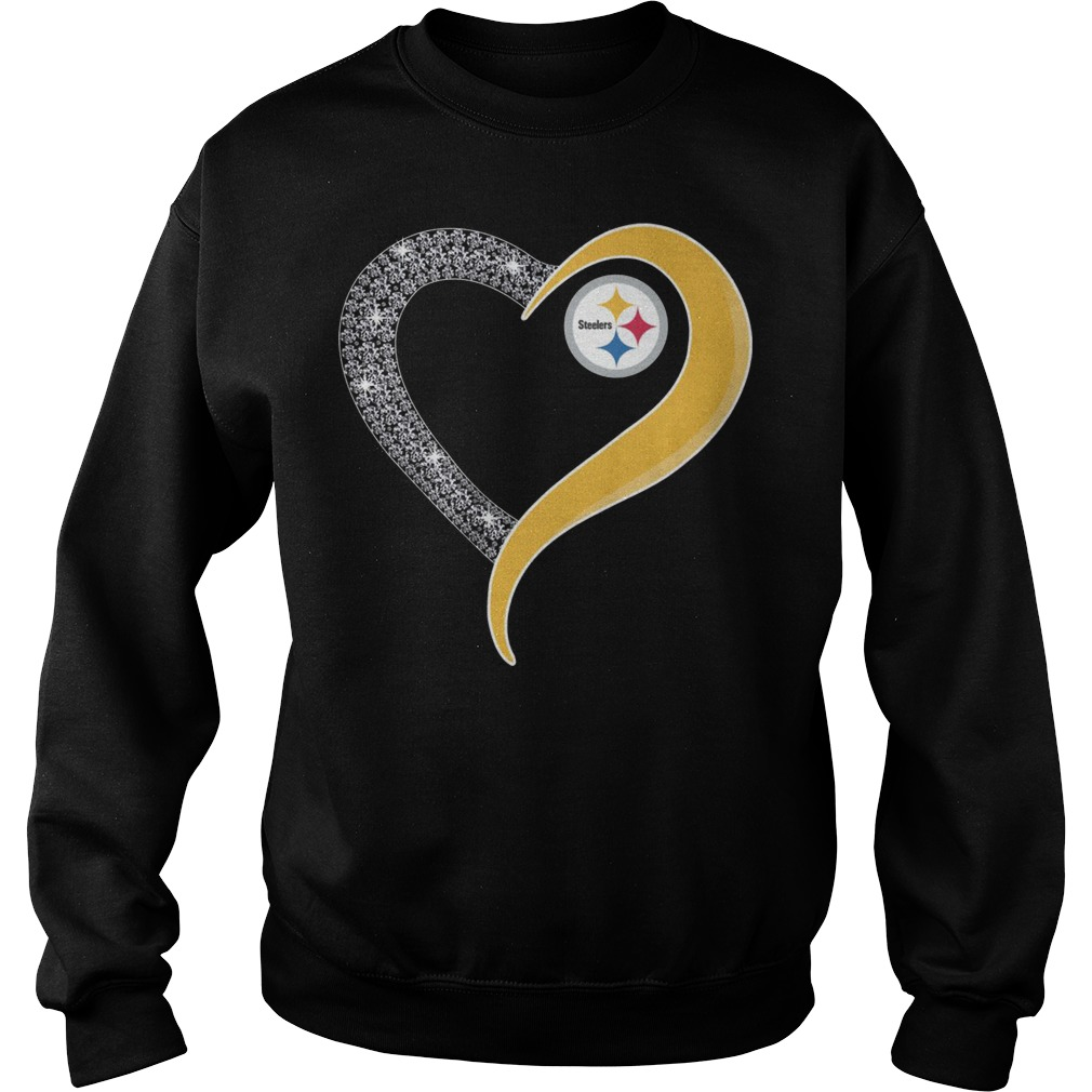 Pittsburgh Steelers heart Sweater