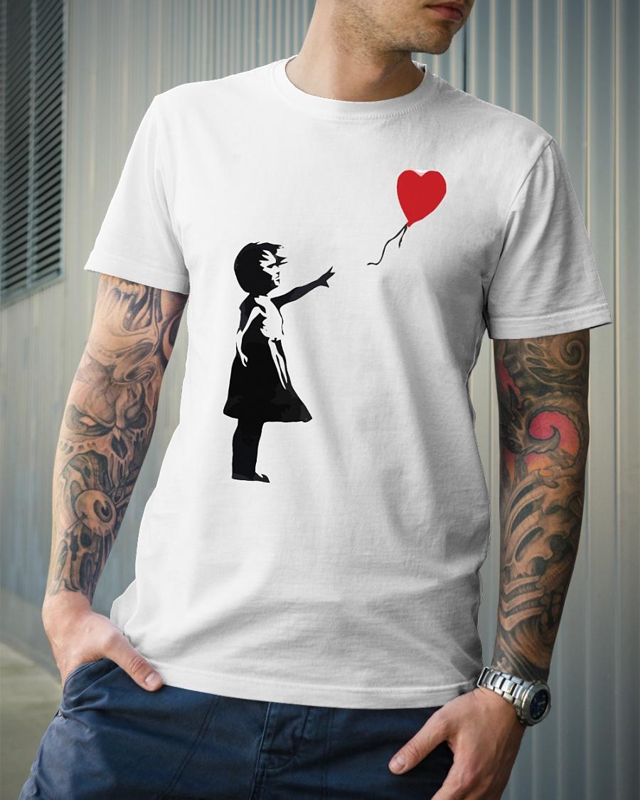 Banksy Girl with Balloon shirt