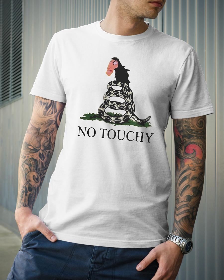 No touchy Kuzco snake shirt