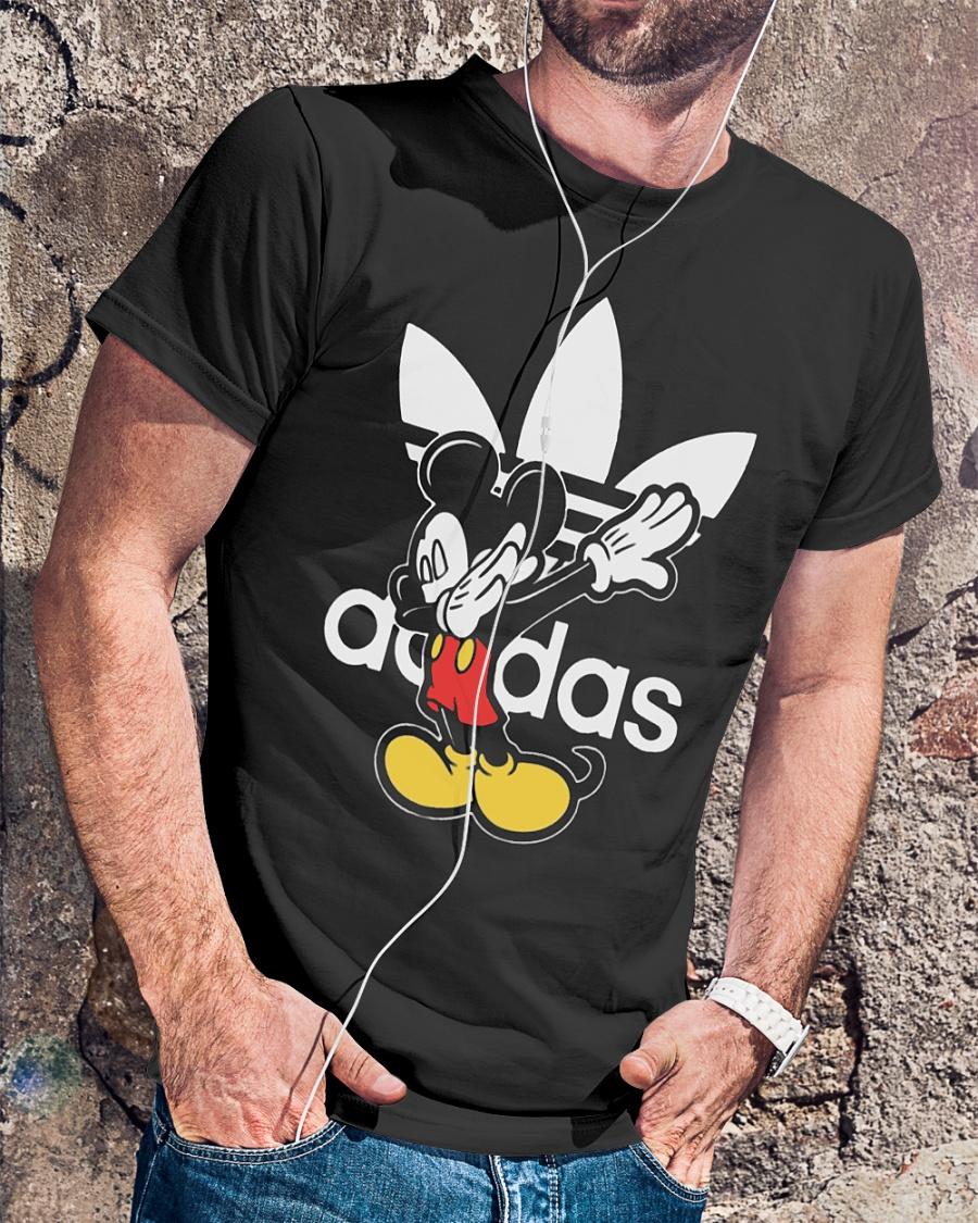Adidas dabbing Mickey mouse shirt