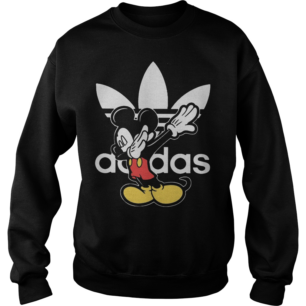 Adidas dabbing Mickey mouse Sweater