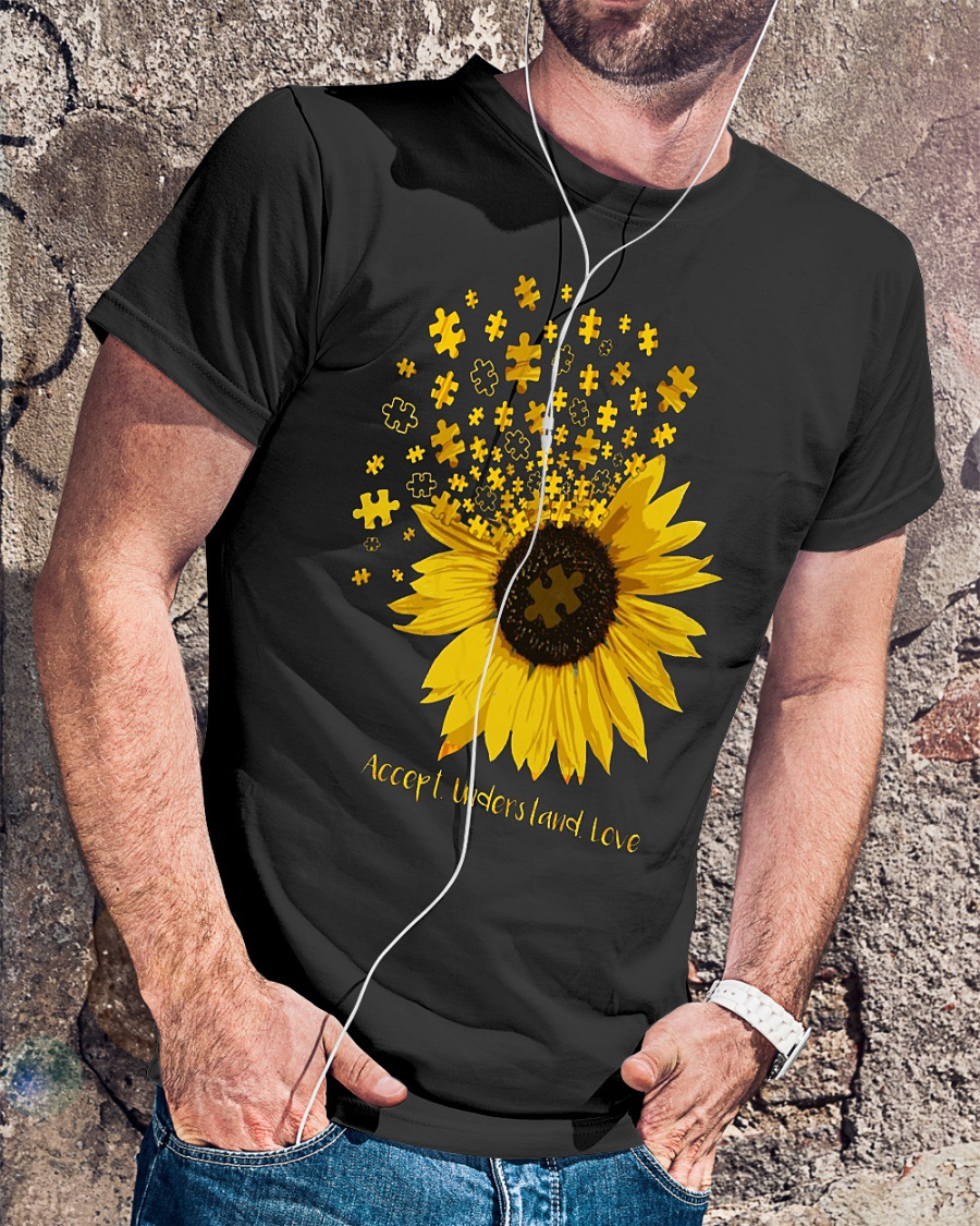 Autism accept understand love sunflower shirt