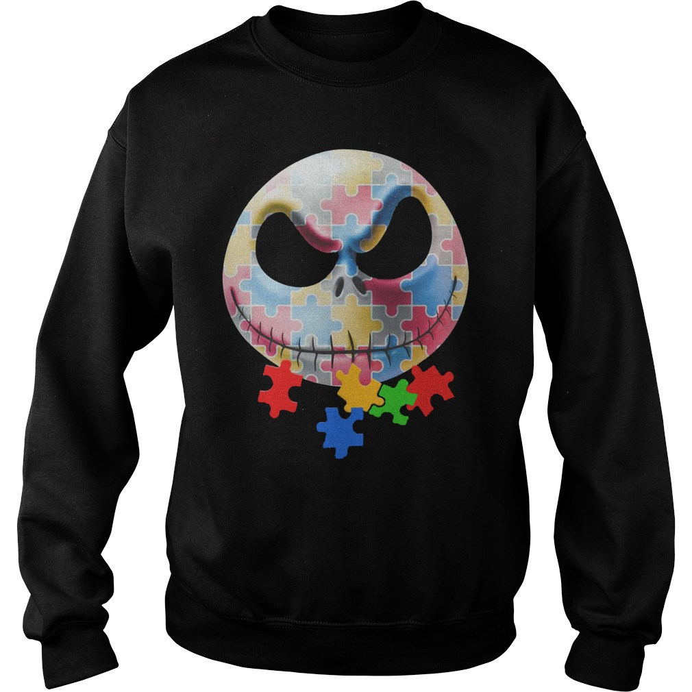 Autism Jack Skellington Face Sweater