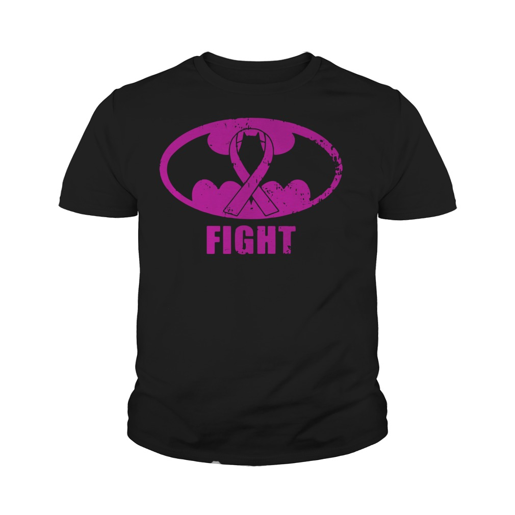 Batman Breast Cancer fight youth tee