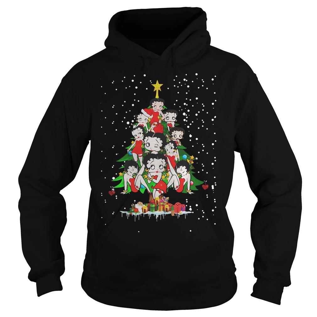 Betty Boop Christmas tree ugly Hoodie