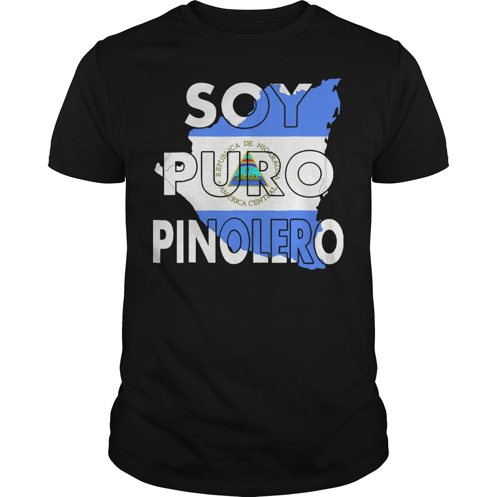 Camiseta Nicaragua Soy Puro Pinolero Nicaraguense Guys t-shirt