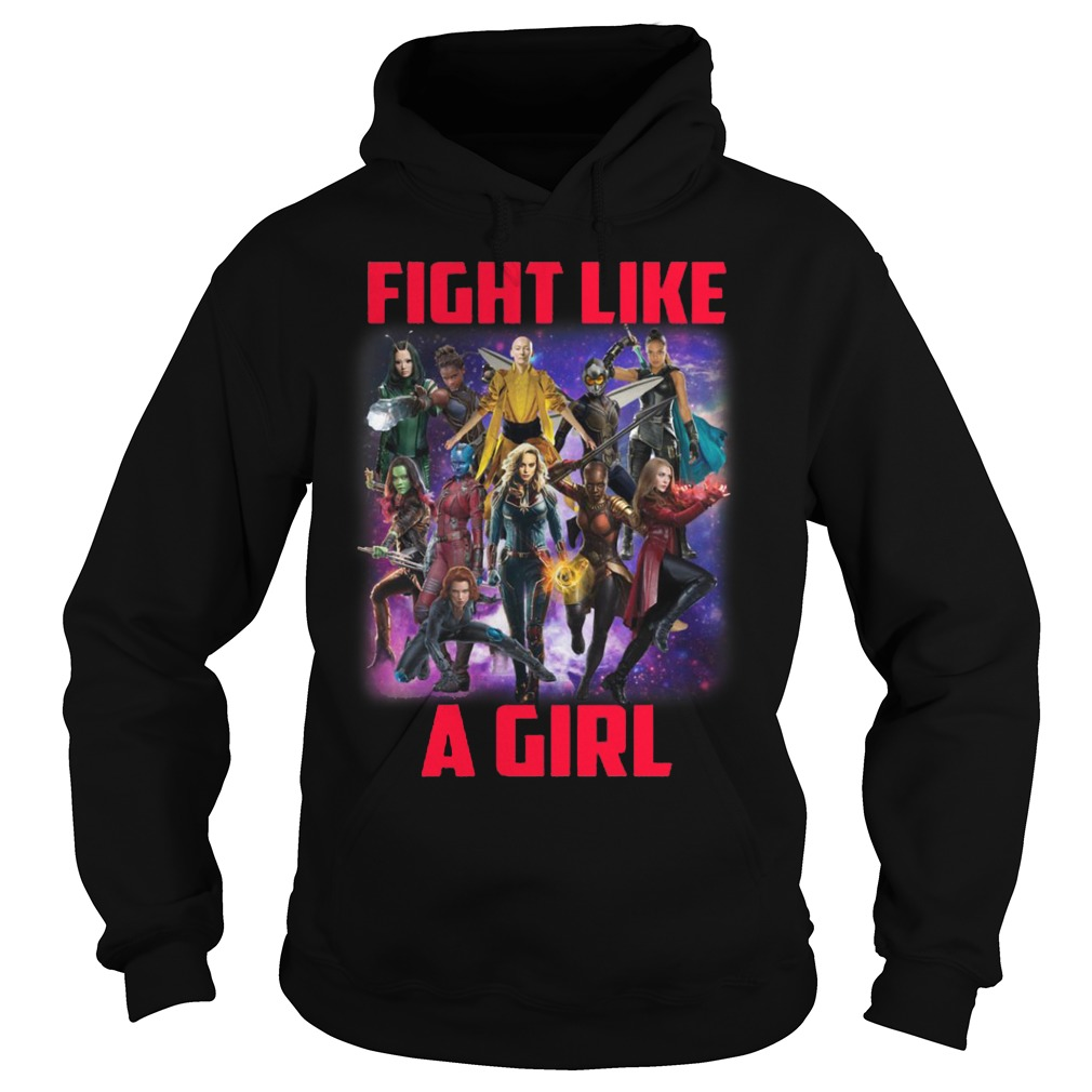 Captain Marvel fight like a girl Hoodie