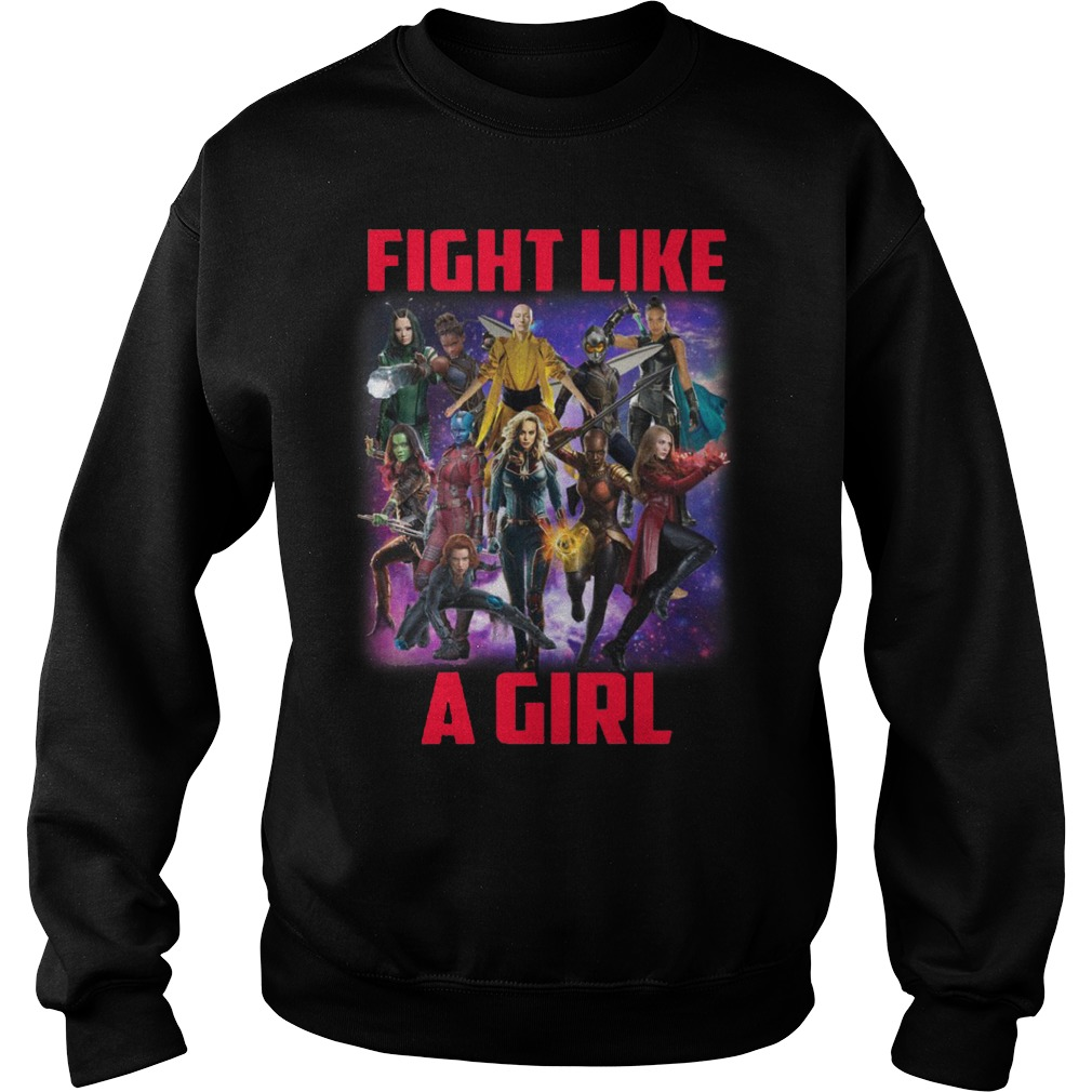 Captain Marvel fight like a girl Sweater
