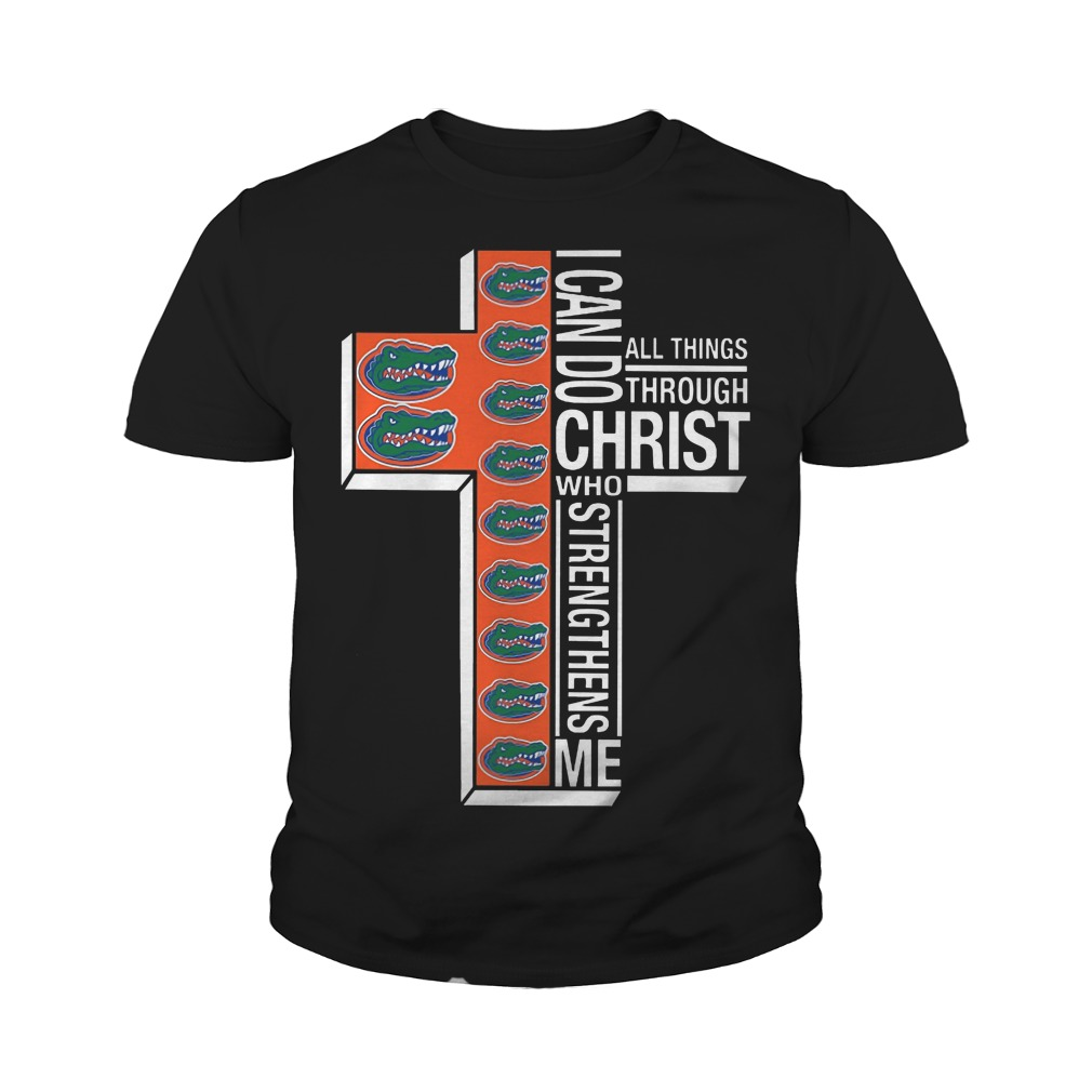 Florida Gators I can do all things through christ who strengthens me youth tee