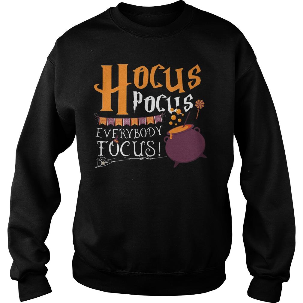 Hocus pocus everybody focus Halloween sweater