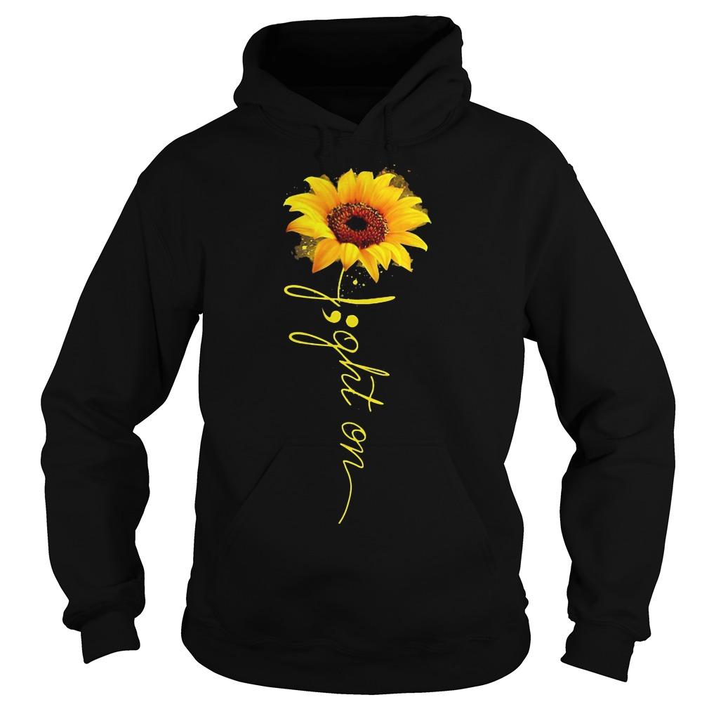 Light on sunflower hoodie