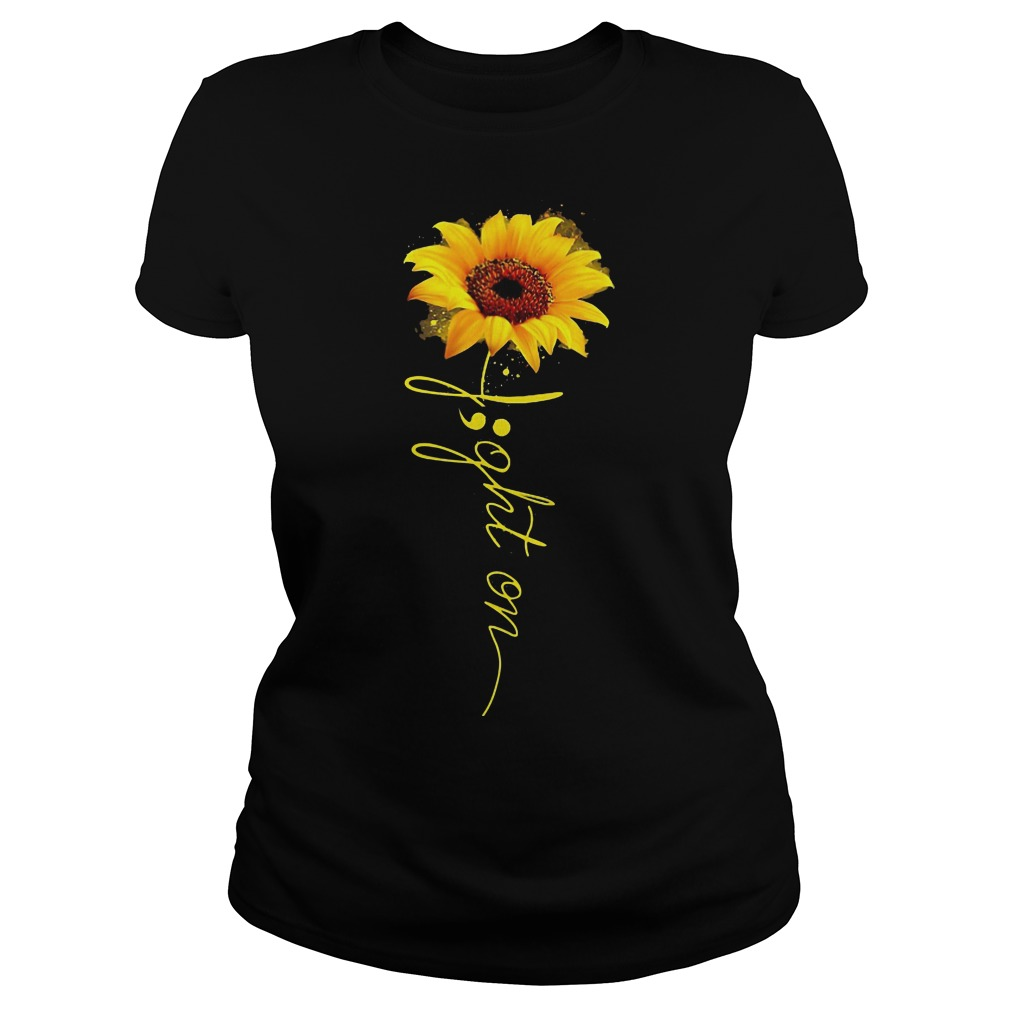 Light on sunflower ladies tee