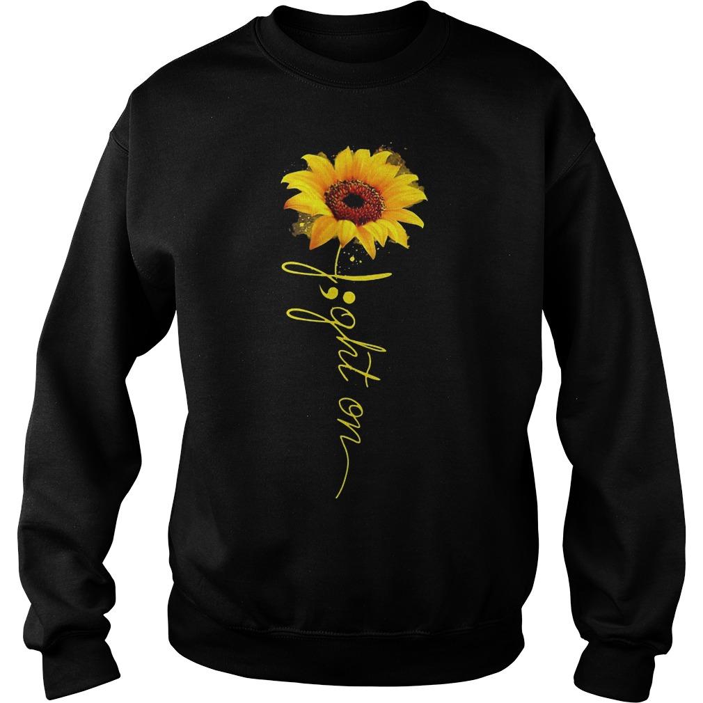 Light on sunflower sweater