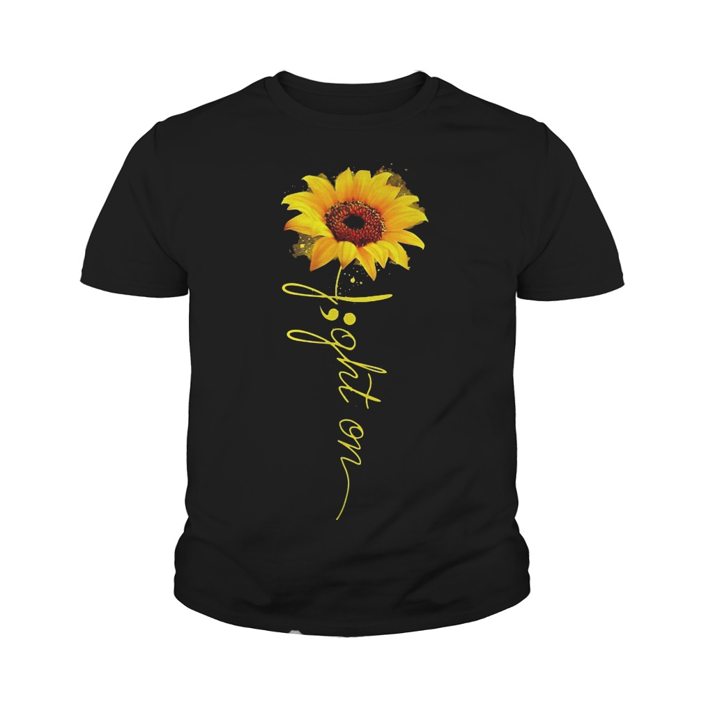 Light on sunflower youth tee