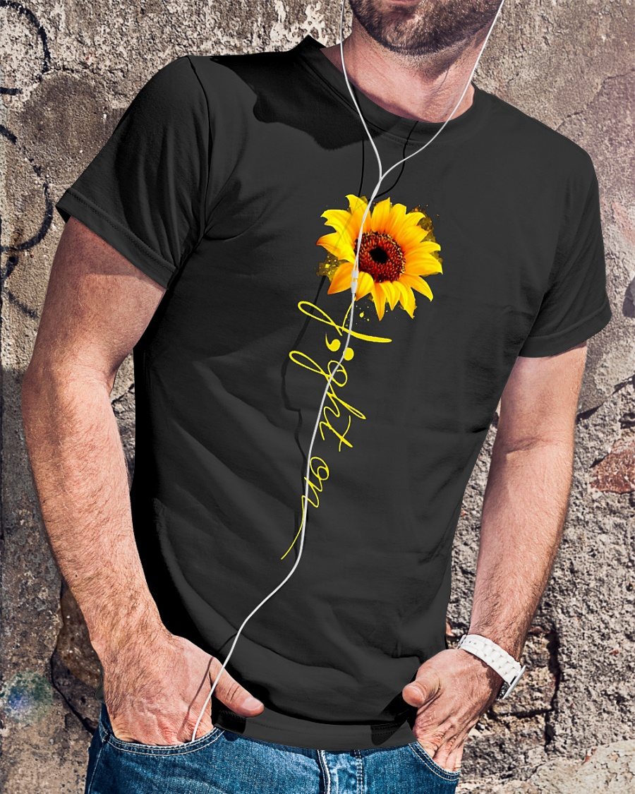 Light on sunflower shirt