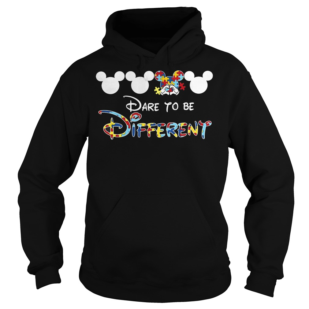 Mickey autism dare to be different Hoodie