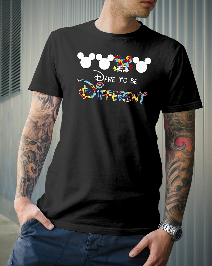 Mickey autism dare to be different shirt
