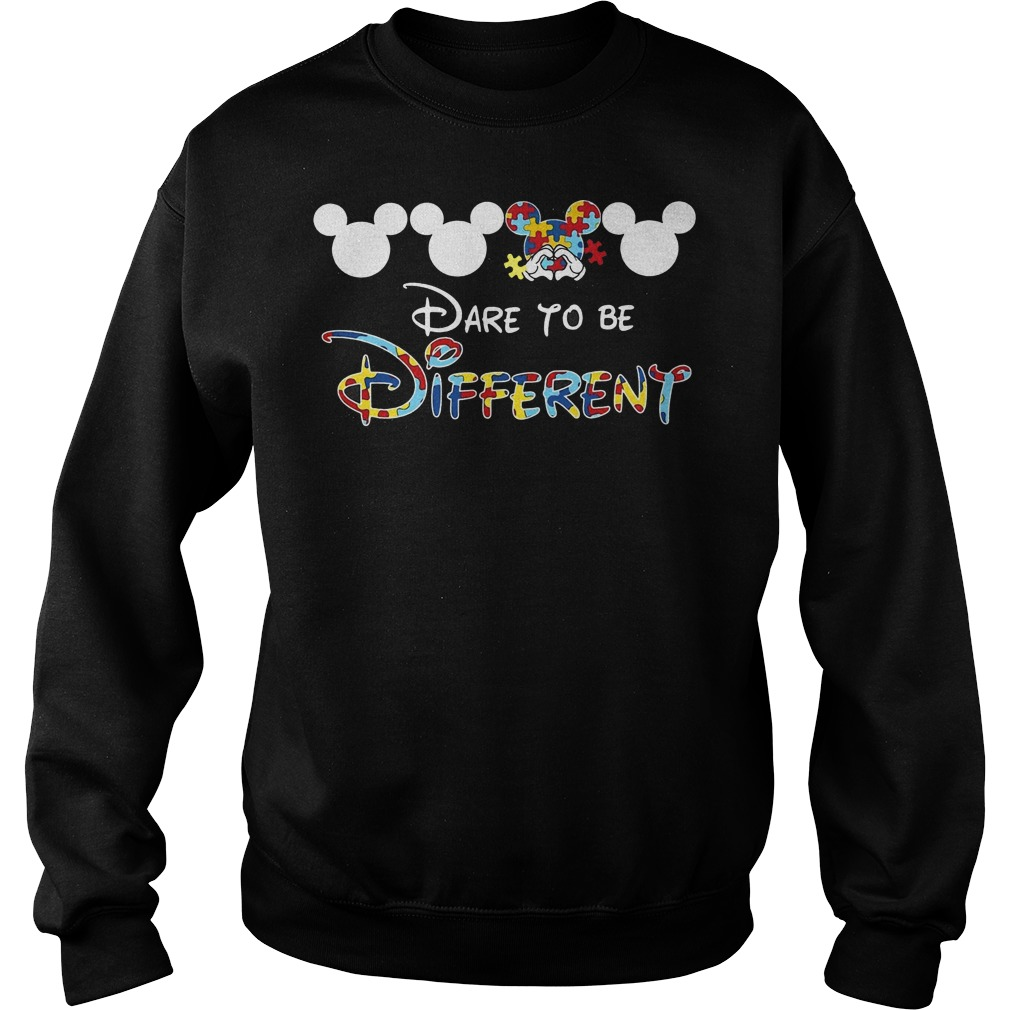Mickey autism dare to be different Sweater