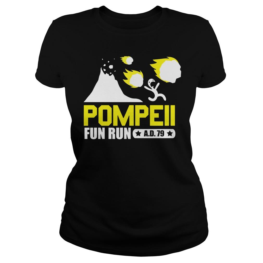 Pompeii fun run ad 79 Ladies t-shirt