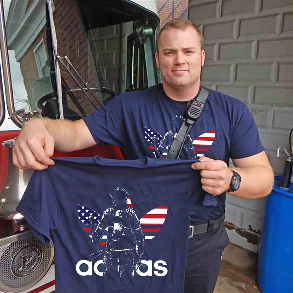 Adidas firefighter shirt