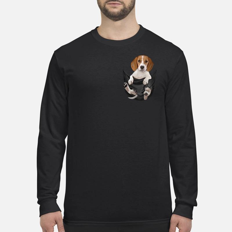 Beagle in pocket Longsleeve