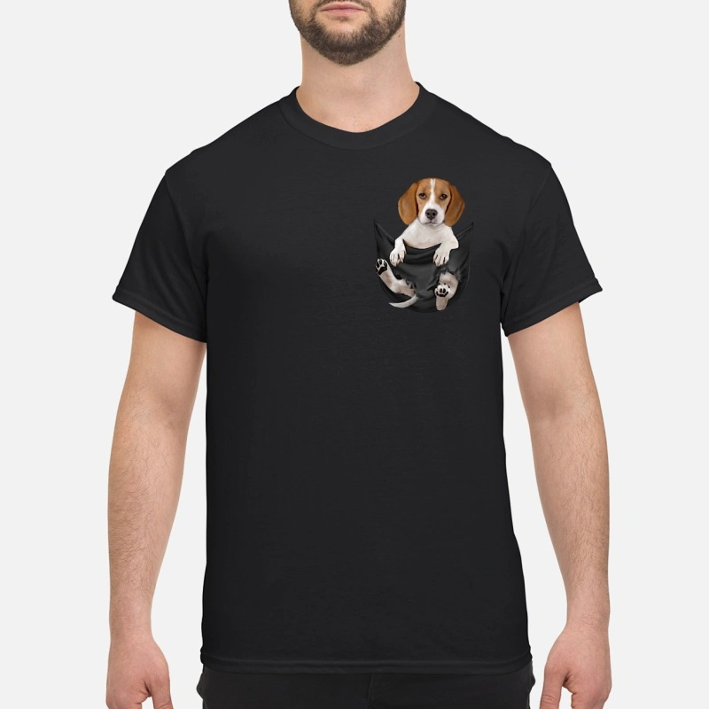 Beagle in pocket shirt
