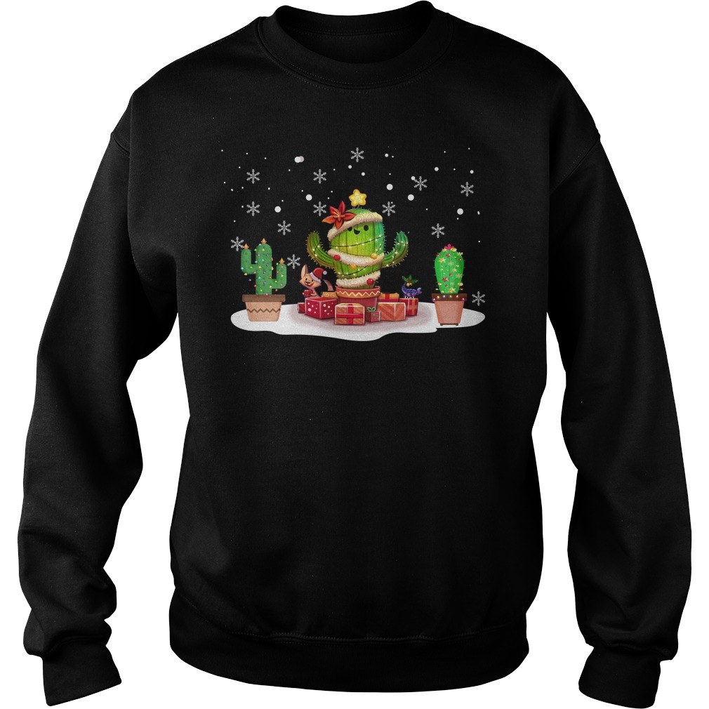 Cactus Party Christmas ugly Christmas sweater