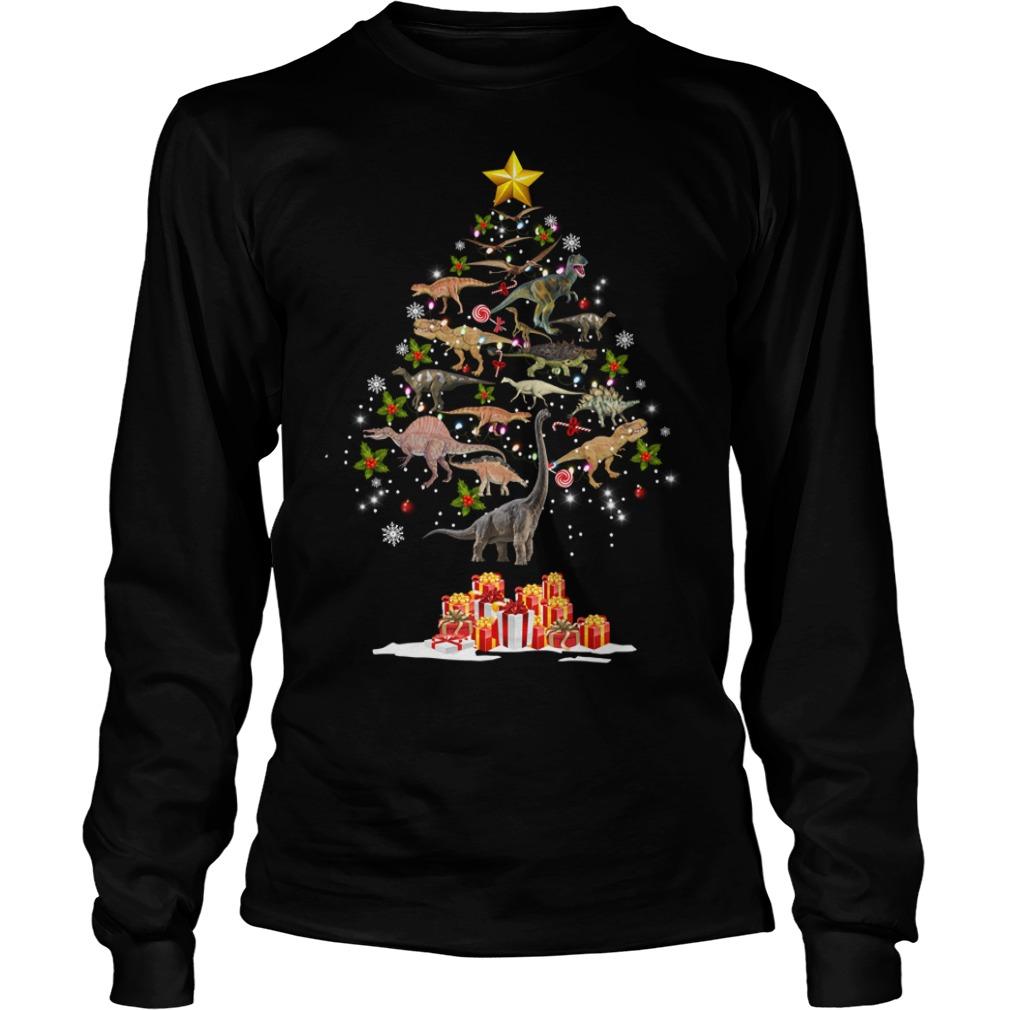 Dinosaur Christmas Tree Longsleeve