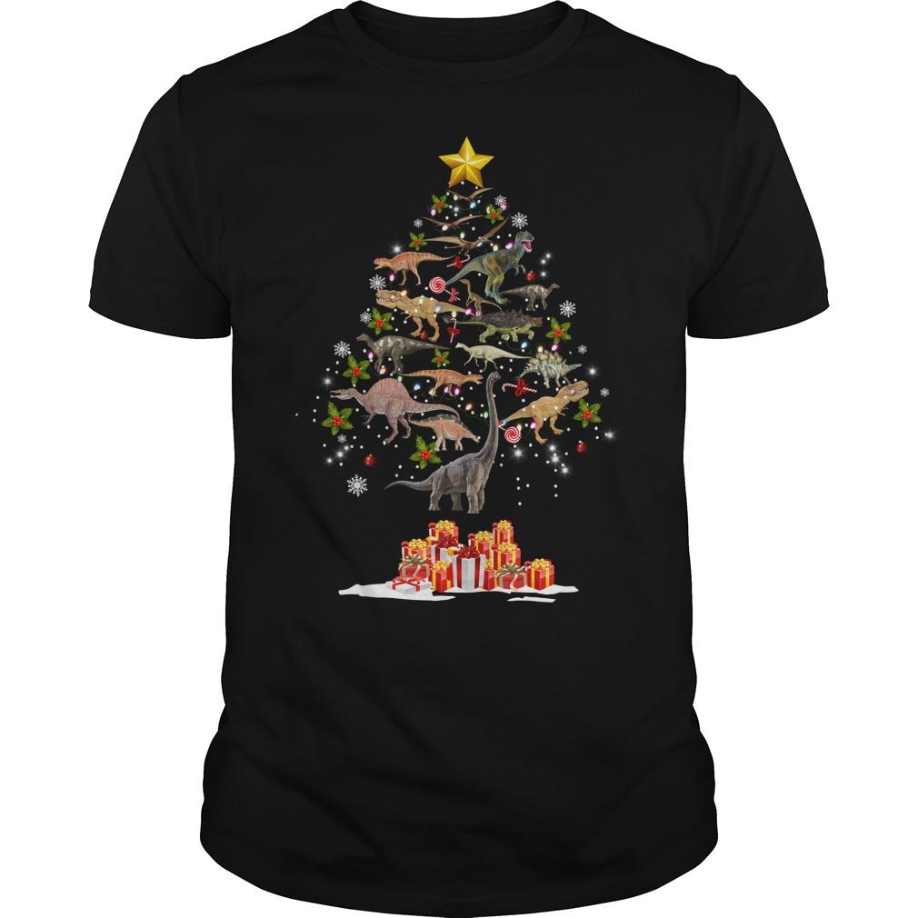 Dinosaur Christmas Tree Shirt