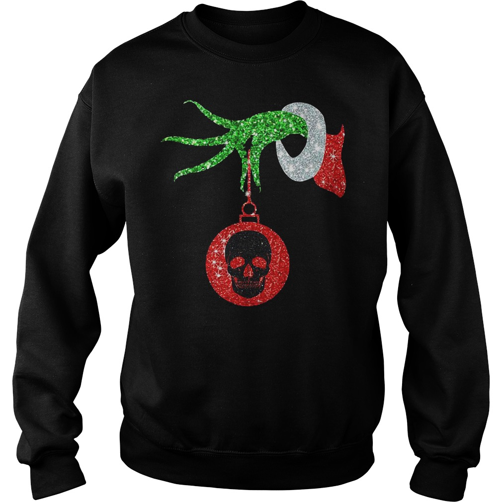 The Grinch holding a skull ornament Sweater
