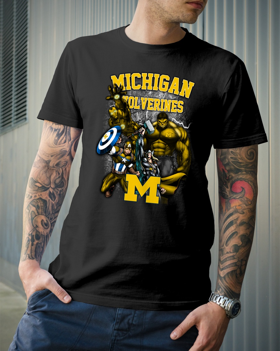 Marvel Michigan Wolverines shirt