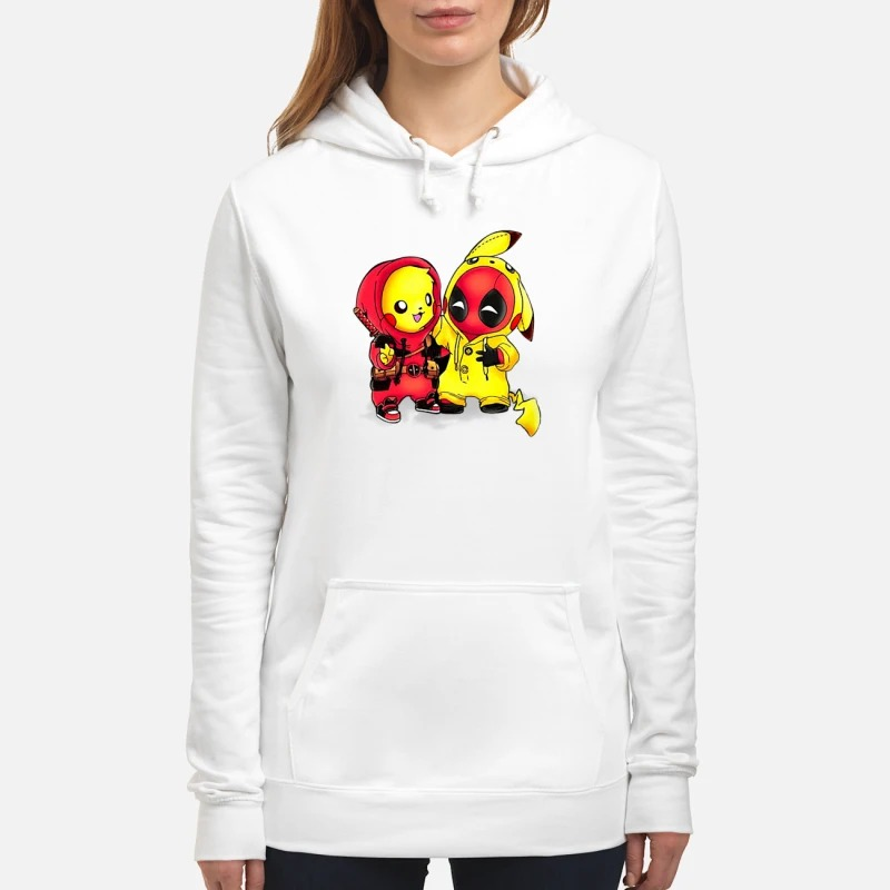 Pikapool Pikachu and Deadpool Hoodie