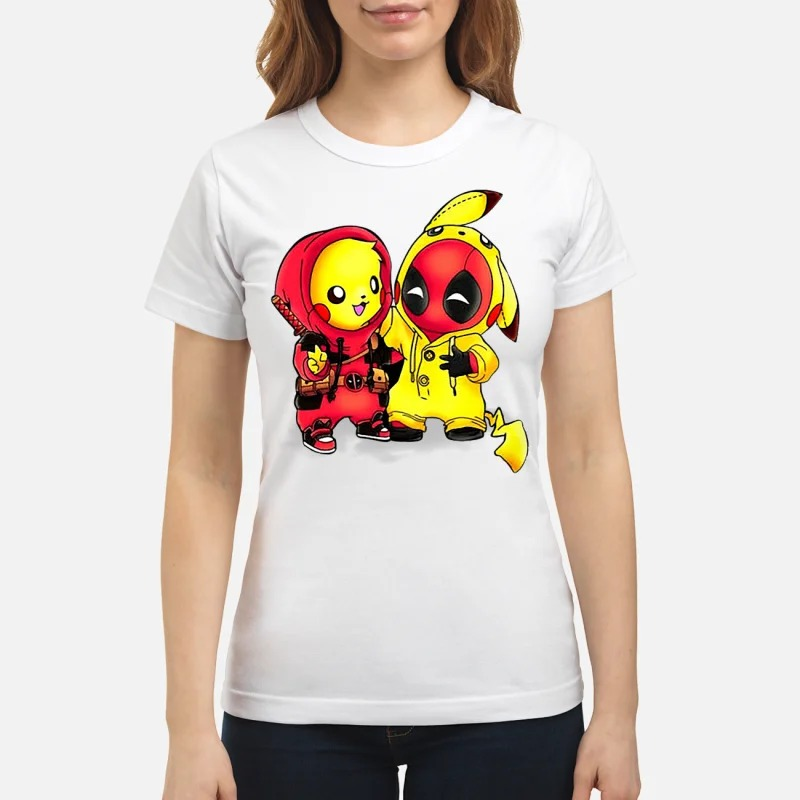 Pikapool Pikachu and Deadpool Ladies