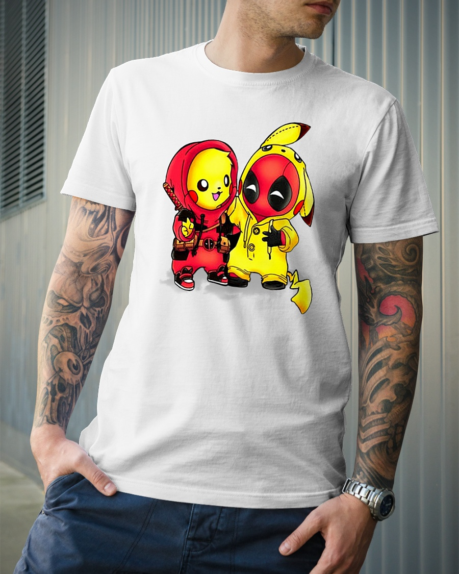 Pikapool Pikachu and Deadpool shirt