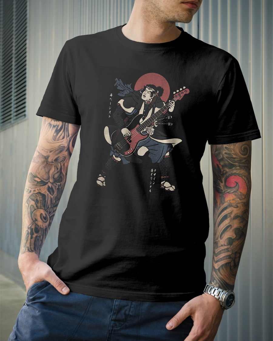 Samurai guitar shirt