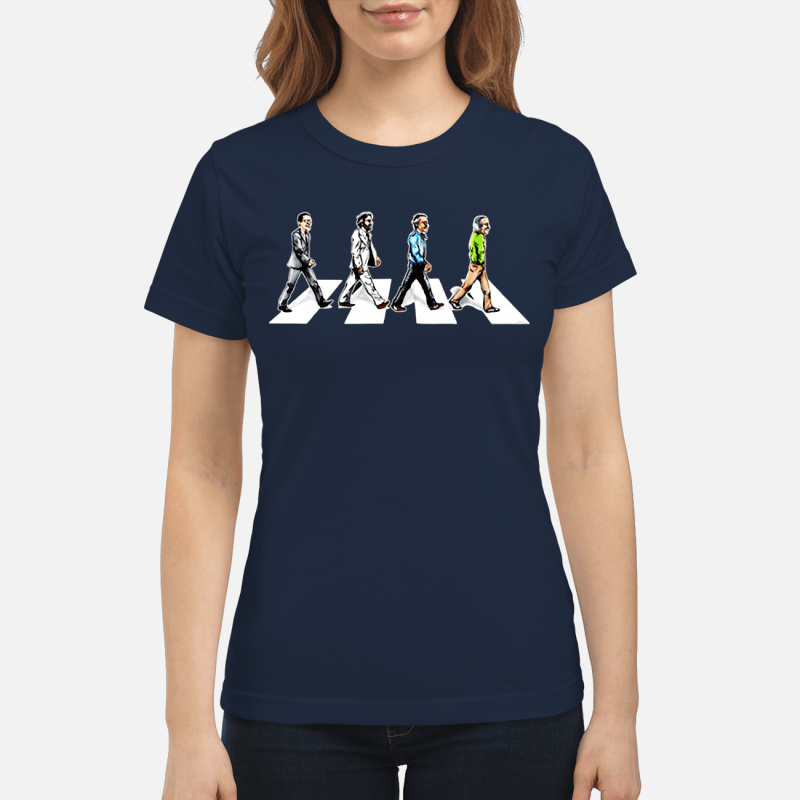 Stan Lee crossing Abbey road Ladies shirt