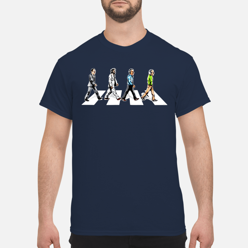 Stan Lee crossing Abbey road shirt