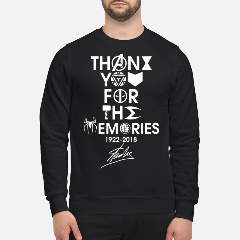 Thank you for the memories 1992 - 2018 Stan Lee Sweater