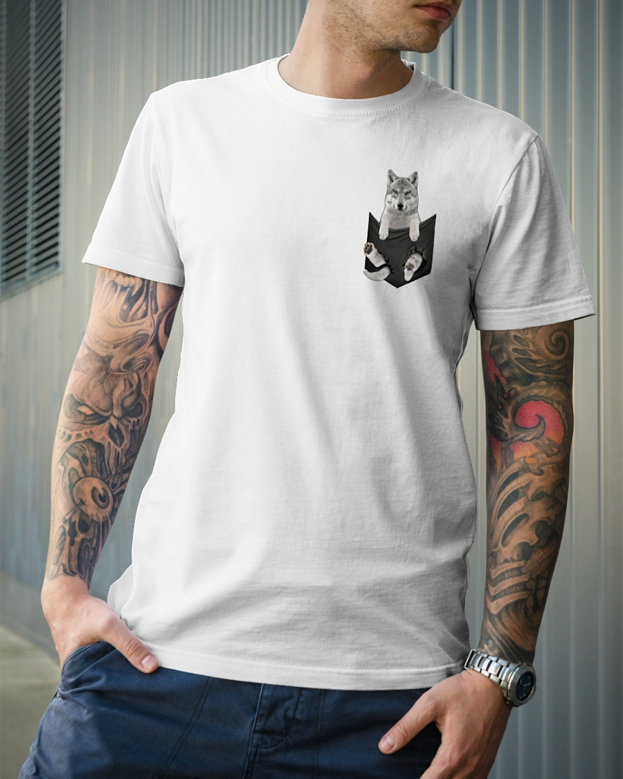 Wolf pocket shirt