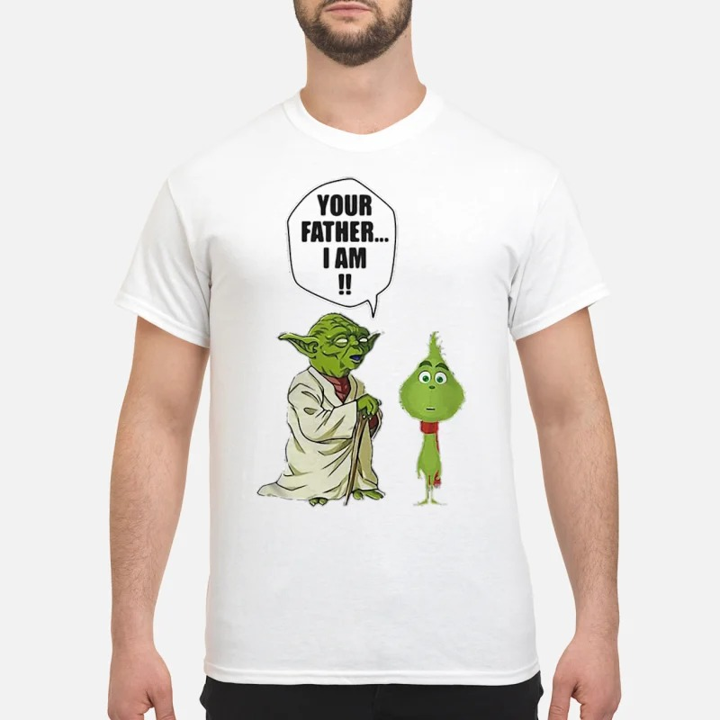Yoda and little Grinch your father I am T-shirt