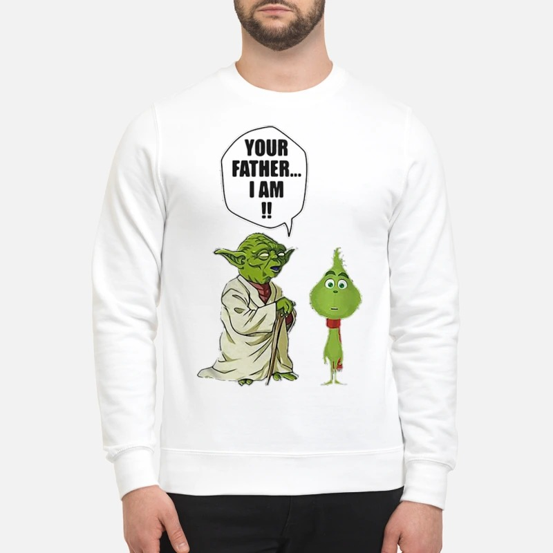 Yoda and little Grinch your father I am Sweater