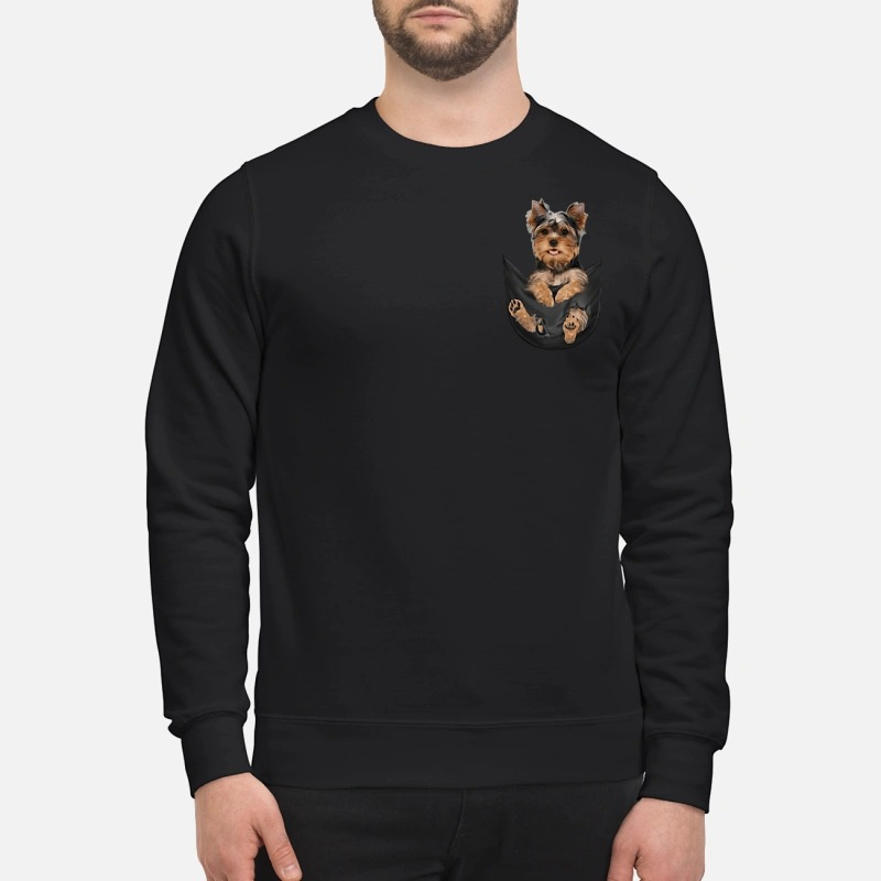 Yorkshire Terrier in a pocket Longsleeve