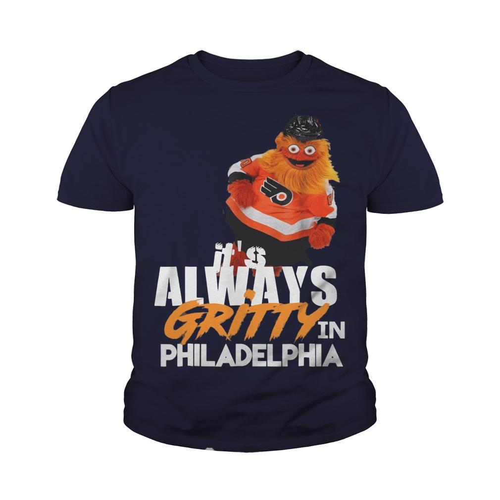 It's always Gritty in Philadelphia youth tee