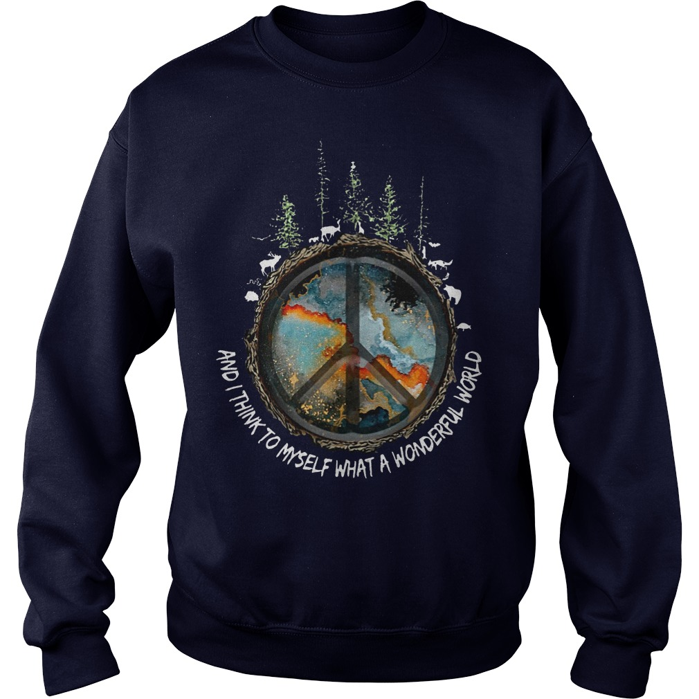 Hippie And I think to myself what a wonderful world sweater