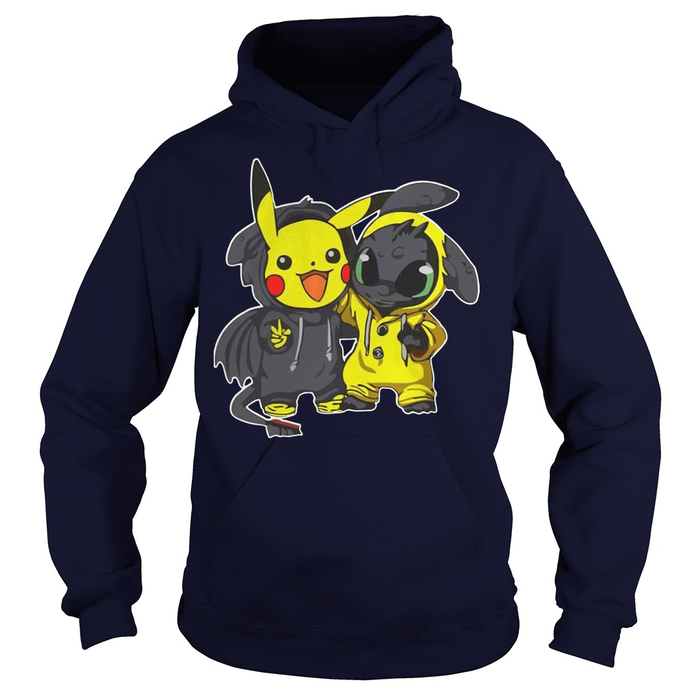 Pikachu and Toothless hoodie