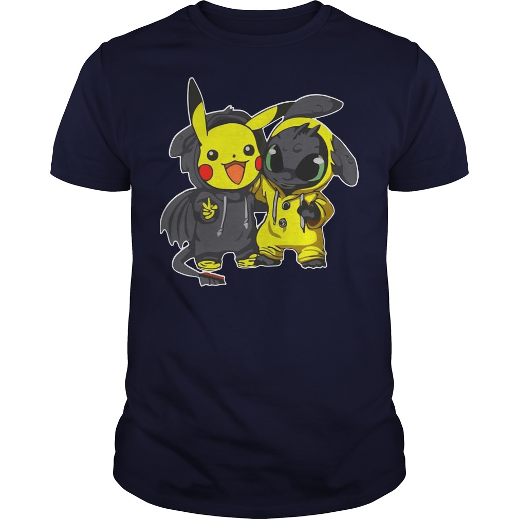 Pikachu and Toothless shirt