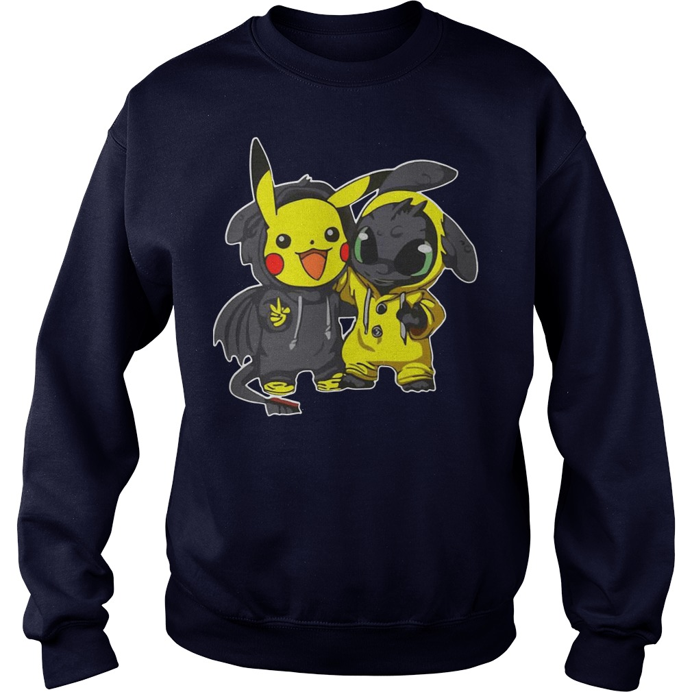 Pikachu and Toothless sweater