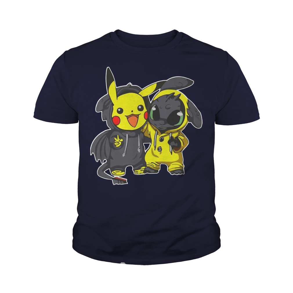 Pikachu and Toothless youth tee