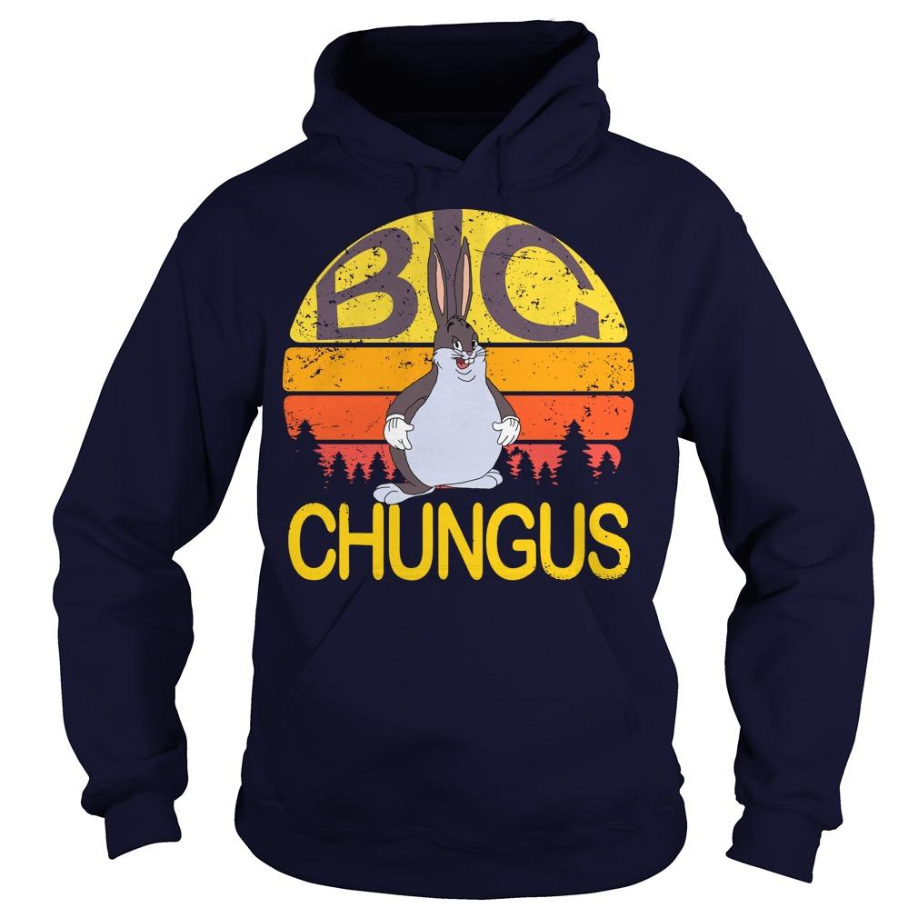 Big Chungus meme vintage sunset hoodie