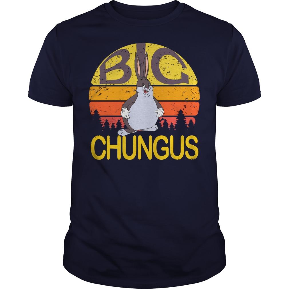 Big Chungus meme vintage sunset shirt